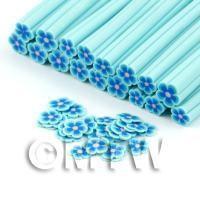 Handmade Light Blue Flower Cane - Nail Art (DNC98)