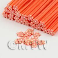 Handmade Orange Flower Cane - Nail Art (DNC99)