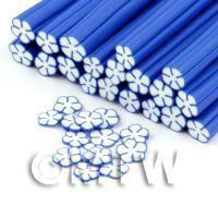 Handmade Blue and White Flower Cane - Nail Art (DNC100)