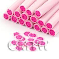 Beautiful Handmade Pink Rose Cane - Nail Art (DNC32)
