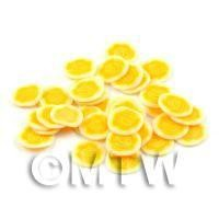 50 Yellow Rose Flower Cane Slices - Nail Art (DNS40)
