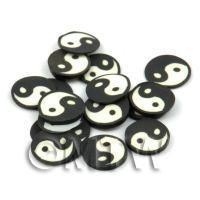50 Handmade Yin and Yang Cane Slices (DNS51)