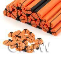 Handmade Orange Ladybird Cane - Nail Art (DNC52)