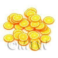 50 Handmade Orange Cane Slices - Style 2 - Nail Art (DNS53)