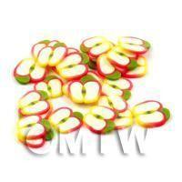 50 Handmade Apple Nail Art Cane Slices - Nail Art (DNS55)
