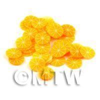 50 Handmade Skinless Orange Cane Slices  - Nail Art (DNS56)