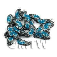 50 Blue Flying Butterfly Cane Slices - Nail Art (DNS10)