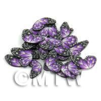 1/12th scale 50 Purple Flying Butterfly Cane Slices - Nail Art (DNS11)