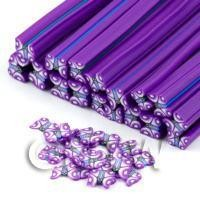 1/12th scale 1 Purple Flying Butterfly Cane - Nail Art (DNC12)