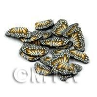 50 Orange Flying Butterfly Cane Slices - Nail Art (DNS13)