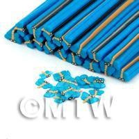 1/12th scale 1 Blue Dragonfly Cane - Nail Art (DNC19)