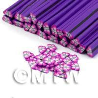1/12th scale 1 Pink and Violet Butterfly / Moth Cane - Nail Art (DNC23)