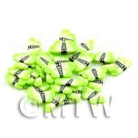 50 green Flying Butterfly / Moth Cane Slices - Nail Art (DNS24)