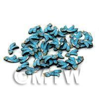 50 Handmade Blue Bird Cane Slices (DNS41)