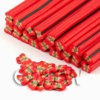 Handmade Red Flying Moth Cane - Nail Art (DNC30)