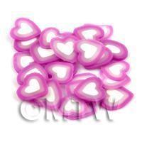 50 Handmade Purple Heart Cane Slices (DNS44)