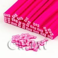 1/12th scale Handmade Pink Bow Tie Cane - Nail Art (DNC45)
