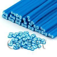 Handmade Blue Bow Tie Cane - Nail Art (DNC46)