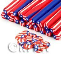 1/12th scale Handmade Puerto Rico Flag Cane - Nail Art (DNC47)