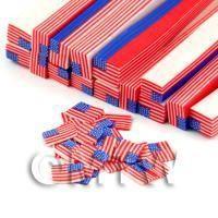 Handmade American Flag Cane - Nail Art (DNC48)