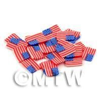 50 Handmade American Flag Cane Slices (DNS48)