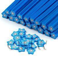 Handmade Blue Flower Cane - Nail Art (DNC59)