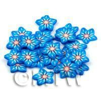 50 Blue Flower Cane Slices - Nail Art (DNS59)