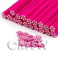 Handmade Dark Pink Flower Cane - Nail Art (DNC64)