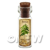 Dolls House Apothecary Nettles Herb Short Colour Label And Bottle