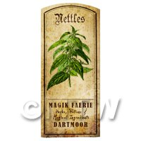 Dolls House Herbalist/Apothecary Nettles Herb Short Colour Label