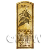 Dolls House Herbalist/Apothecary Nettles Herb Long Sepia Label