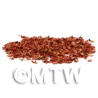 Dolls House Miniature Leaves - Red Autumn Mix