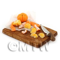 Dolls House Miniature Handmade Peeling Orange Board