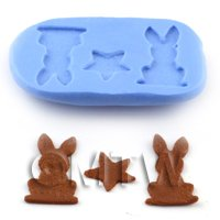 Dolls House Miniature Rabbits and Star Mould