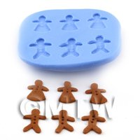 Dolls House Miniature 6 Gingerbread People Mould