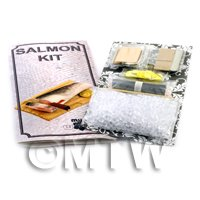 Dolls House Miniature Salmon Kit With Silicone Mould