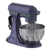 Metallic Purple Dolls House Miniature Old Style Batter / Dough Mixer