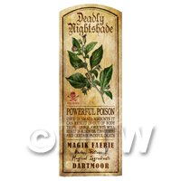 Dolls House Herbalist/Apothecary Nightshade Herb Long Colour Label