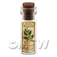 Dolls House Apothecary Nightshade Herb Short Colour Label And Bottle