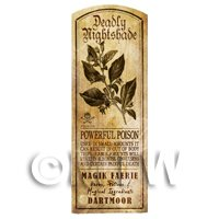 Dolls House Herbalist/Apothecary Nightshade Herb Long Sepia Label
