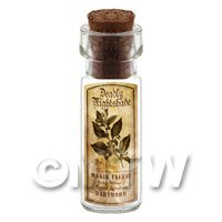 Dolls House Apothecary Nightshade Herb Short Sepia Label And Bottle