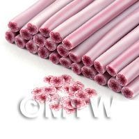 Handmade Red And White Flower Cane - Nail Art (11NC111)
