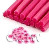 Handmade Dark Pink Transparent Flower Cane - Nail Art (11NC112)