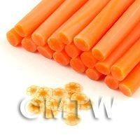 Dolls House Miniature - Handmade Transparent Light Orange Flower Cane - Nail Art (11NC113)