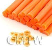 Handmade Transparent Light Orange Flower Cane - Nail Art (11NC113)