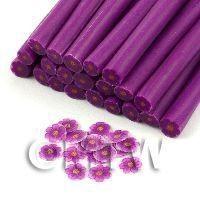 Handmade Purple And Mauve Flower Cane - Nail Art (11NC114)