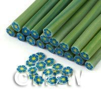 Handmade Blue And Yellow Flower Cane - Nail Art (11NC115)