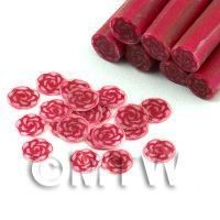 Handmade Red Rose Cane With Glitter - Nail Art (11NC39)