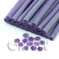 1/12th scale Handmade Mauve Rose Cane With Glitter - Nail Art (11NC42)