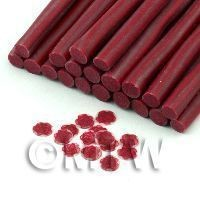 1/12th scale Handmade Red Rose Cane With Glitter - Nail Art (11NC43)
